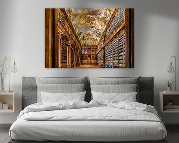 Prachtige bibliotheek in Praag sur Roy Poots
