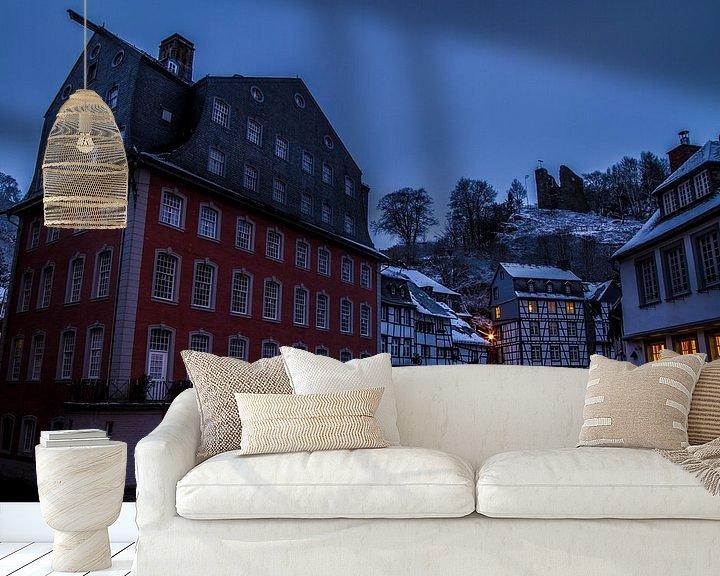 Sfeerimpressie behang: Monschau in de morgen van Eus Driessen