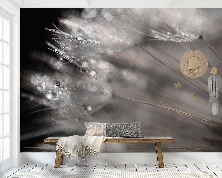Beispiel fototapete: Bedauwde paardenbloem von Astrid Brouwers