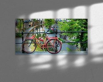 Rode fiets in Utrecht