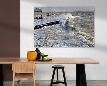 Storm in Vlissingen van Anton de Zeeuw