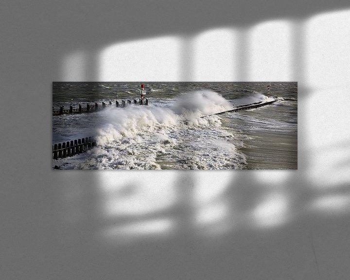 Sfeerimpressie: Panorama storm in Vlissingen van Anton de Zeeuw
