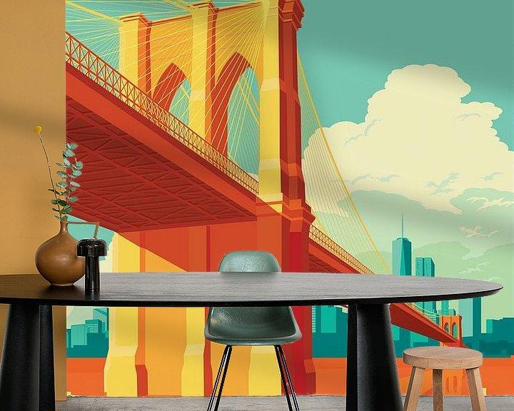 Beispiel fototapete: Brooklyn Bridge NYC von Remko Heemskerk