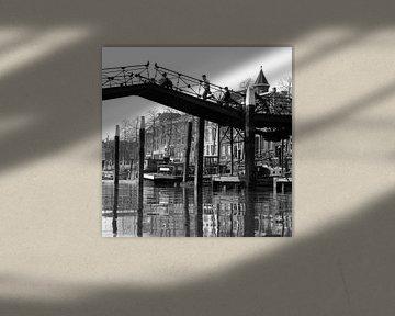 Lange IJzeren Brug in Dordrecht von Dordrecht van Vroeger