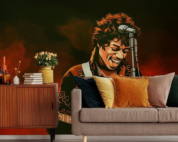Beispiel fototapete: Jimi Hendrix Painting von Paul Meijering