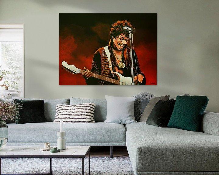 Beispiel: Jimi Hendrix Painting von Paul Meijering