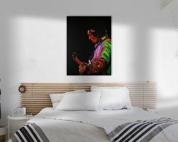 Jimi Hendrix Schilderij 4 van Paul Meijering
