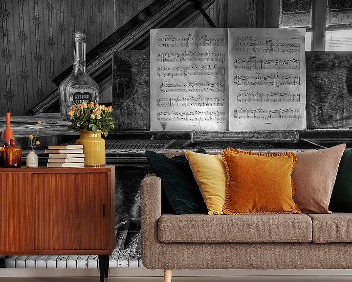 Beispiel fototapete: Lost Place - Klavier - stille Liebe von Carina Buchspies