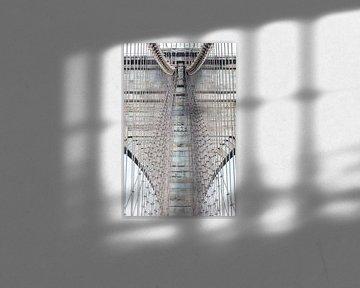 Brooklyn-Brücke New York Nahaufnahme von Inge van den Brande