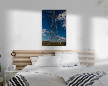 Powerlines abstract tot ver weg aan de horizon van Brian Morgan