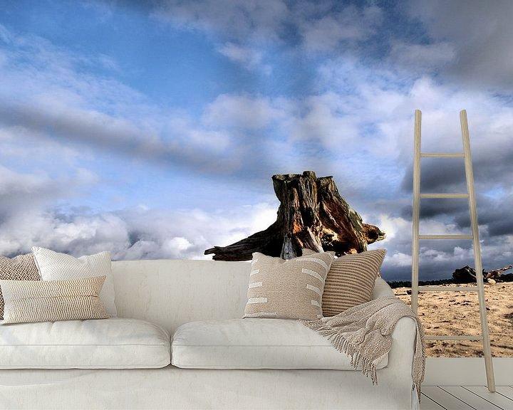 Sfeerimpressie behang: Zandvlakte van Paul Arentsen