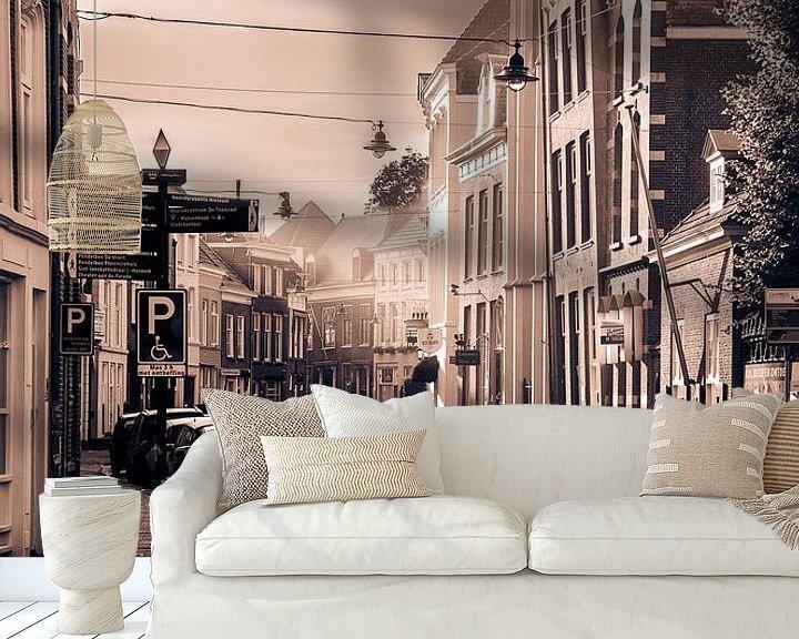 Sfeerimpressie behang: City Morning van Merijn Koster