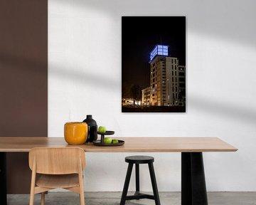 Nachtfoto van Klokgebouw van Jasper Scheffers