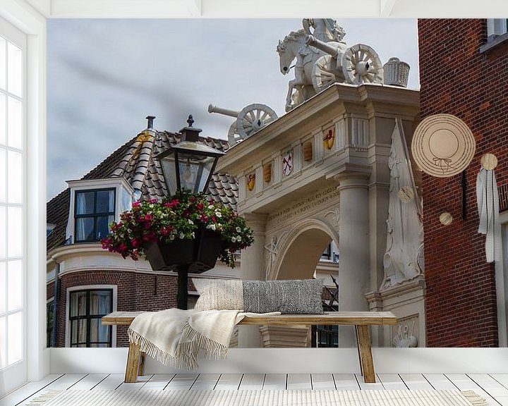 Sfeerimpressie behang: Doelenpoort Leiden van Leanne lovink