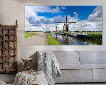 Molen en gemaal in de Berkmeerpolder (N-H) van Willem Visser