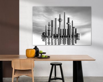 Skyline van ... von M van Egmond