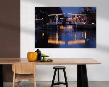 Abel Tasmanbrug en Jan Pieterszoon Coenbrug over Leidse Rijn in Utrecht von Donker Utrecht