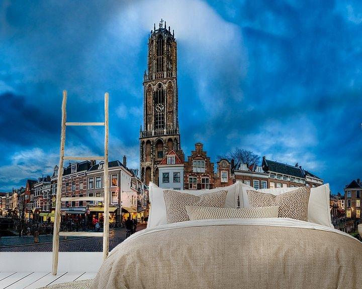 Sfeerimpressie behang: Utrecht Domtoren van Paul Piebinga