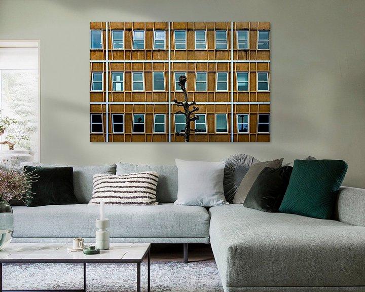 Sfeerimpressie: Gevel met boom van Maerten Prins