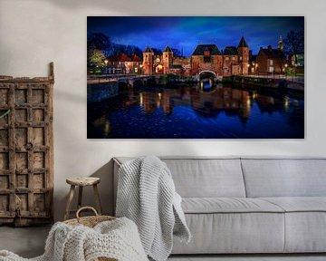 Koppelpoort Amersfoort golden hour van Michael van der Burg