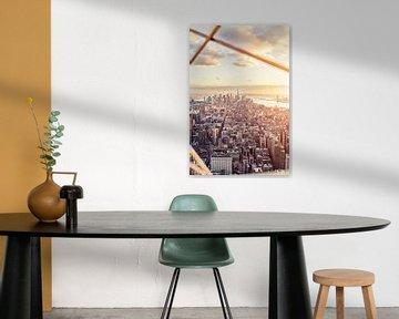 New York City Skyline  - Freedom Tower - Black and White  von Rob van der Voort