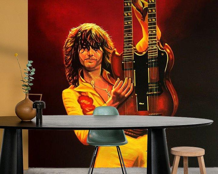 Beispiel fototapete: Jimmy Page Malerei von Paul Meijering