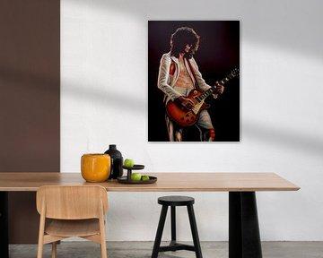 Jimmy Page In Led Zeppelin Malerei von Paul Meijering