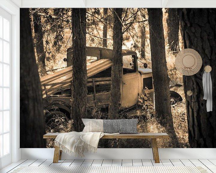 Beispiel fototapete: LKW in Sepia-Ton von Pascal Raymond Dorland