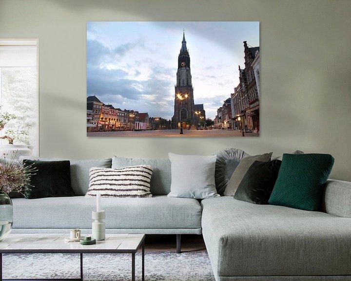 Sfeerimpressie: De Markt in Delft van Fleur Halkema