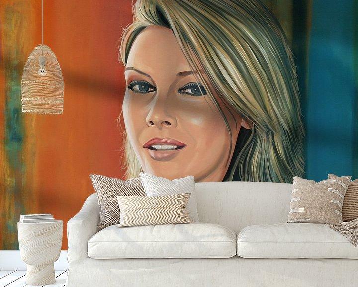 Sfeerimpressie behang:  Kim Wilde Schilderij van Paul Meijering