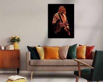Kurt Cobain Nirvana Malerei von Paul Meijering