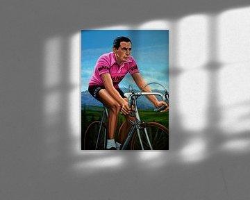Fausto Coppi  Schilderij von Paul Meijering