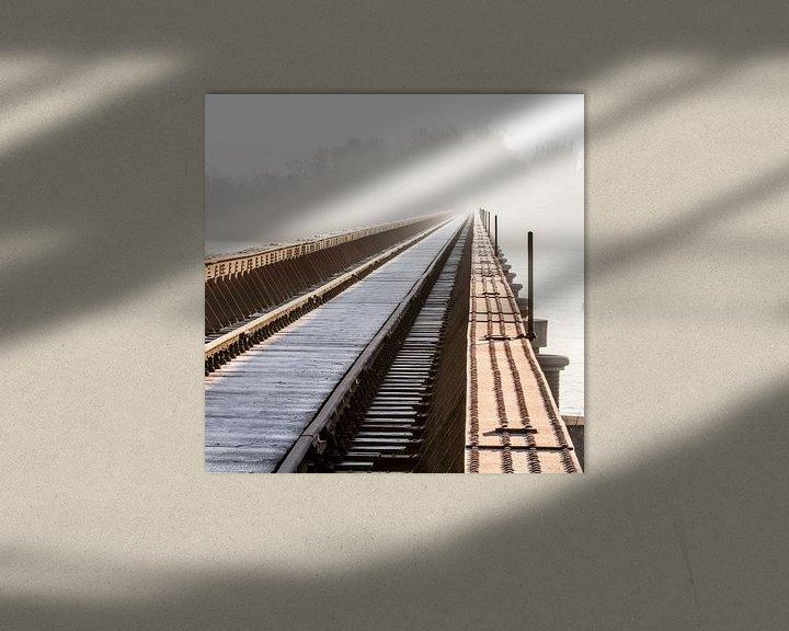 Sfeerimpressie: Moerputtenbrug in kleur van Ruud Peters