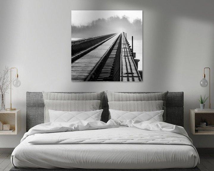 Sfeerimpressie: Moerputtenbrug in zwart wit van Ruud Peters