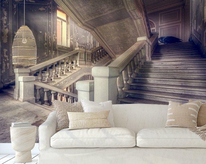 Beispiel fototapete: Ich präsentiere Ihnen … – verfallenes Treppenhaus, Italien. von Roman Robroek