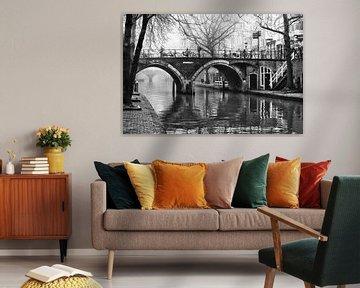 De Hamburgerbrug in Utrecht over de Oudegracht von De Utrechtse Grachten