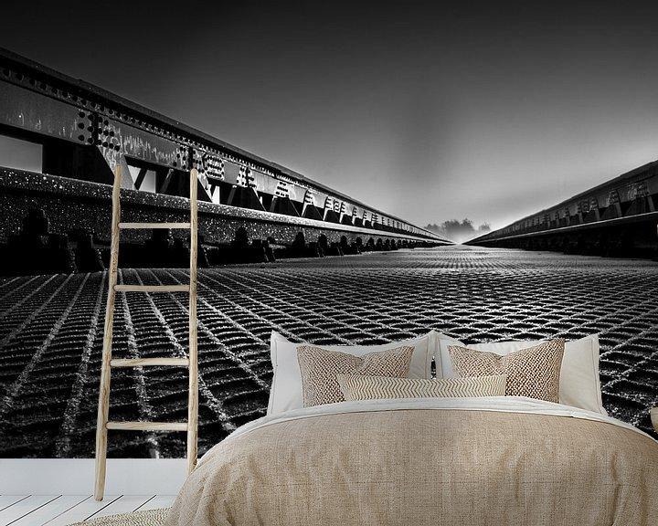 Sfeerimpressie behang: Moerputtenbrug patronen van Ruud Peters