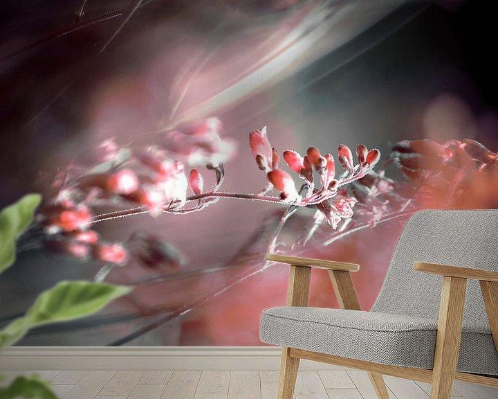 Sfeerimpressie behang: RED SPANGLES no4-QF1 van Pia Schneider