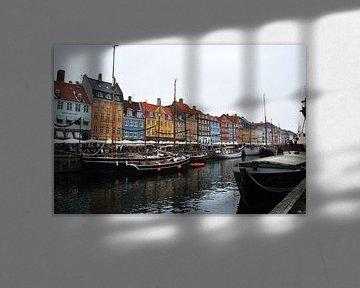 Skyline van Kopenhagen (Nyhavn) - Denemarken van Be More Outdoor