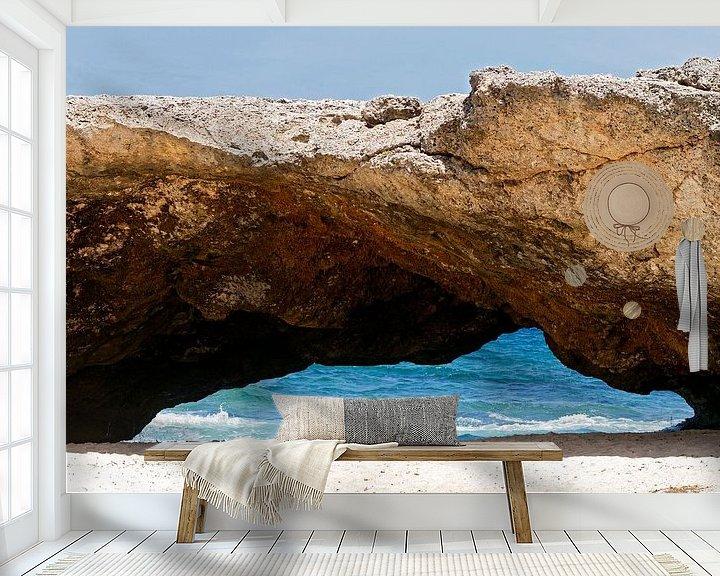 Sfeerimpressie behang: natuurlijke brug in aruba van gea strucks