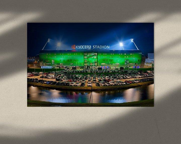 Beispiel: Kyocera Stadion, ADO Den Haag während eines Spiels von Anton de Zeeuw