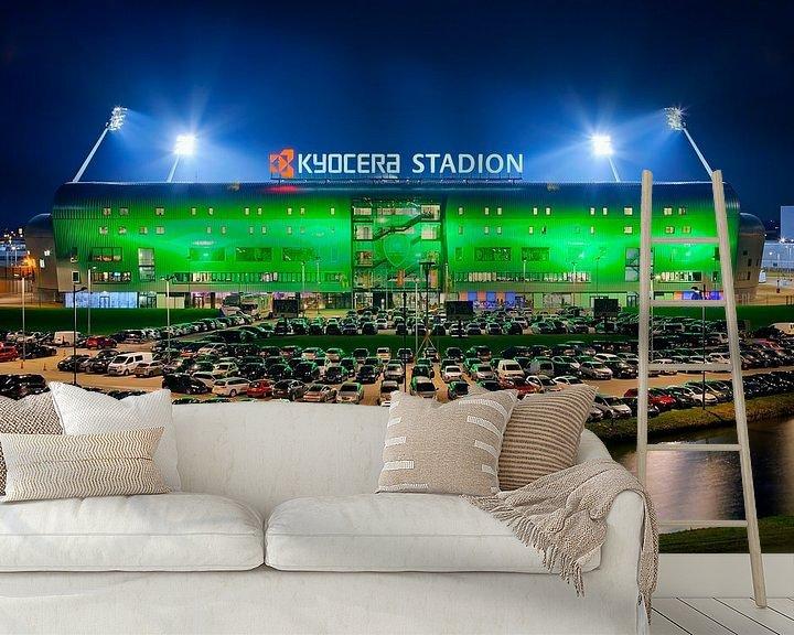 Beispiel fototapete: Kyocera Stadion, ADO Den Haag während eines Spiels von Anton de Zeeuw