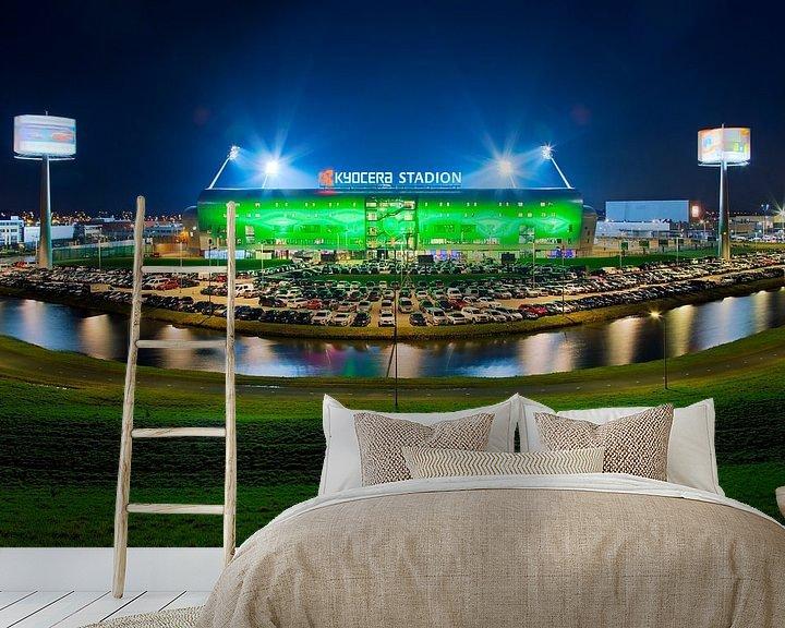 Sfeerimpressie behang: Kyocera Stadion, ADO Den Haag tijdens een wedstrijd van Anton de Zeeuw