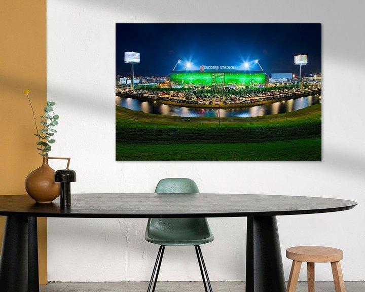 Sfeerimpressie: Kyocera Stadion, ADO Den Haag tijdens een wedstrijd van Anton de Zeeuw