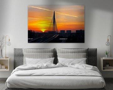 Prince Claus Pont au coucher du soleil à Utrecht
