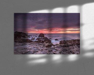 Purple Sunset Skies in Aruba sur Meliza  Lopez