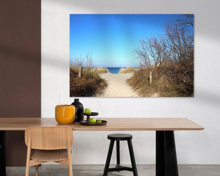 Beispiel: Strandaufgang im Winter von Ostsee Bilder