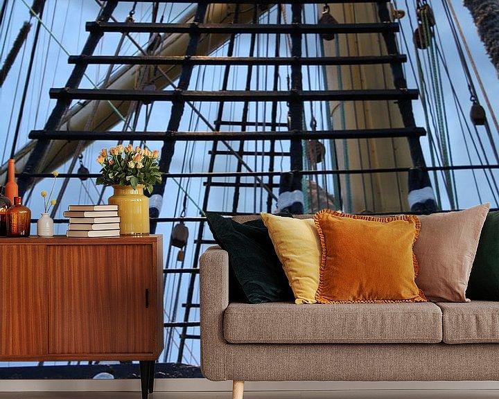 Sfeerimpressie behang: Tall Ships Races Harlingen 2014 van Jetty Boterhoek