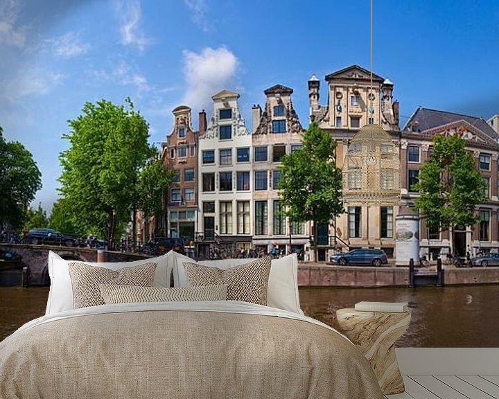 Sfeerimpressie behang: Panorama Herengracht van Anton de Zeeuw