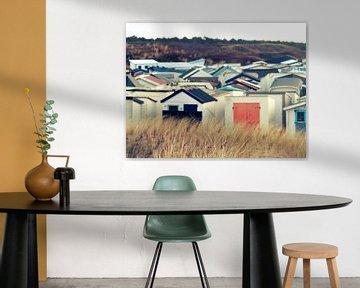 Strandhuisjes/ beachhouse van Lydia de Lange